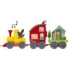 Bing műanyag Vonat két kocsi házikóval és egy Bing nyuszi figurával