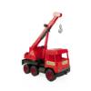 Darus autó teleszkópos emelődaruval piros 38 cm