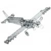 Duplafedeles repülő építőjáték 170 db-os szerszámokkal fém Eitech