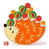 Egyensúlyózó süni játék gyümölcsökkel fa 14 db-os Woody