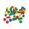 Fa építőjáték színes 50 db-os hordozható dobozzal