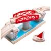 Fa vonatpálya játékszett forgóhíd vitorlással 4 db-os Bigjigs
