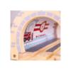 Fa vonatpálya játékszett metróállomás 5 db-os Bigjigs