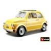 Fém autó Fiat 500F 1965 sárga 1:24 Bburago