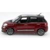 Fém autó Fiat 500L bordó 1:24