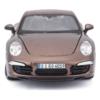 Fém autó Porsche 911 Carrera S bronz-barna 1:24
