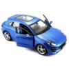 Fém autó Porsche Macan kék 1:24