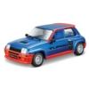 Fém autó Renault 5 Turbo kék-piros 1:24