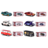 Majorette Fém kisautó VW T1 kisbusz piros-fehér