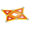 Geomag Classic Panel piros-sárga-narancs készlet 35 db-os