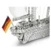 Gorch Foch hajó építőjáték 1520 db-os fa dobozban szerszámokkal fém Eitech 1:125