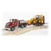 Játékautó Mack kamion és munkagép műanyag Bruder 1:16