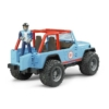 Játékautó terepjáró Jeep Cross Country figurával műanyag Bruder 1:16