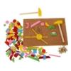 Kalapácsos játék Kipp-kopp pink 229 db-os fa Woody