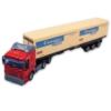 Kamion fém piros pótkocsival és 2 20 lábas konténerrel 1:48