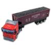 Kamion fém piros szenes konténerrel 1:64
