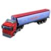 Kamion fém piros üzemanyagtartállyal 1:48