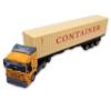 Kamion fém sárga pótkocsival és 40 lábas konténerrel 1:48