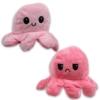Kifordítható hangulat polip plüss rózsaszín-pink 12 cm