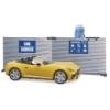 Kisautó Roadster cabrio autószerelő műhely szervíz játékfigurával műanyag Bruder 1:16