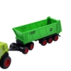 Kombájn fém zöld és pótkocsi nyitott konténerrel 1:72