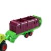 Kombájn fém zöld és takarmánygyűjtő konténer 1:72