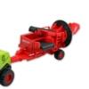 Kombájn fém zöld mezőgazdasági gép pótkocsival 1:72