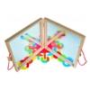 Mágneses formák és tükörjáték fa 42 db-os Woody