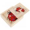 Puzzle mini dobozban Katicás 4 x 4 db-os fa Woody