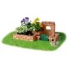 Tégla építőjáték kiskert és kapu szett 145 db-os kiegészítőkkel teifoc