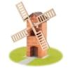 Tégla építőjáték malom szett 100 db-os kiegészítőkkel teifoc