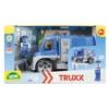 Truxx rendőrautó műanyag figurával és barikáddal 26 cm