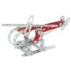 Tűzoltóautó és helikopter építőjáték 190 db-os szerszámokkal fém Eitech