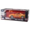 Fast & Furious Brian figura és Toyota Supra fém autó 1:24