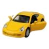 Fém hátrahúzós kisautó hanggal sárga