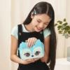 Purse Pets interaktív válltáska róka hang effektekkel és mozgó szemekkel türkiz