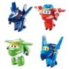 Super Wings Átalakuló játékrepülő 4 db-os készlet, Agent Chace, Flip, Jerome, Mira (kicsi)