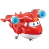 Super Wings Átalakuló játékrepülő hanggal és fénnyel Deluxe Supercharged Jett 16 cm