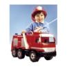 Tűzoltóautó tömlővel és víztartállyal 65 cm