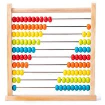 Abakusz golyós számoló színes Woody