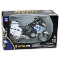 BMW R1200 fém rendőrmotor műanyag borítással 1:12