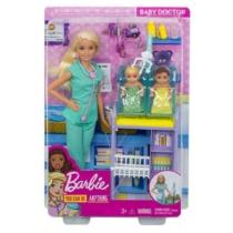Barbie Gyerekorvos baba kisbabával játékszett