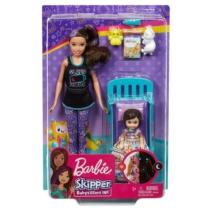 Barbie Skipper Babysitters babával, kisággyal és kiegészítőkkel