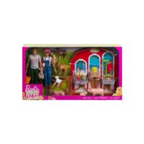 Barbie Sweet Orchard Farm Pajta babákkal, állatokkal és kiegészítőkkel