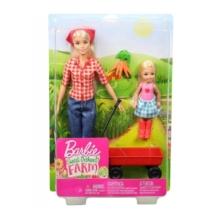 Barbie baba kislánnyal Sweet Orchard Farm piros kiskocsival