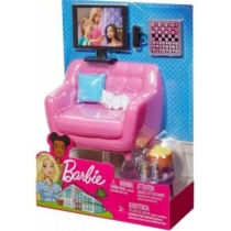 Barbie kanapé TV-vel szett