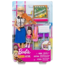 Barbie zenetanár baba és tanítványa játékszett