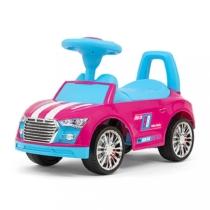 Bébitaxi 3 az 1-be sportautó pink-kék