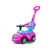 Bébitaxi 3 az 1-ben sportautó dudával pink