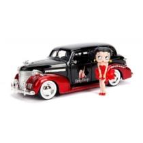 Betty Boop fém autó 1939 Chevy Master Deluxe fém figurával 1:24